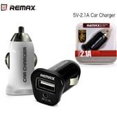 Автомобильное ЗУ Remax usb 2.1A для смартфонов и планшетов