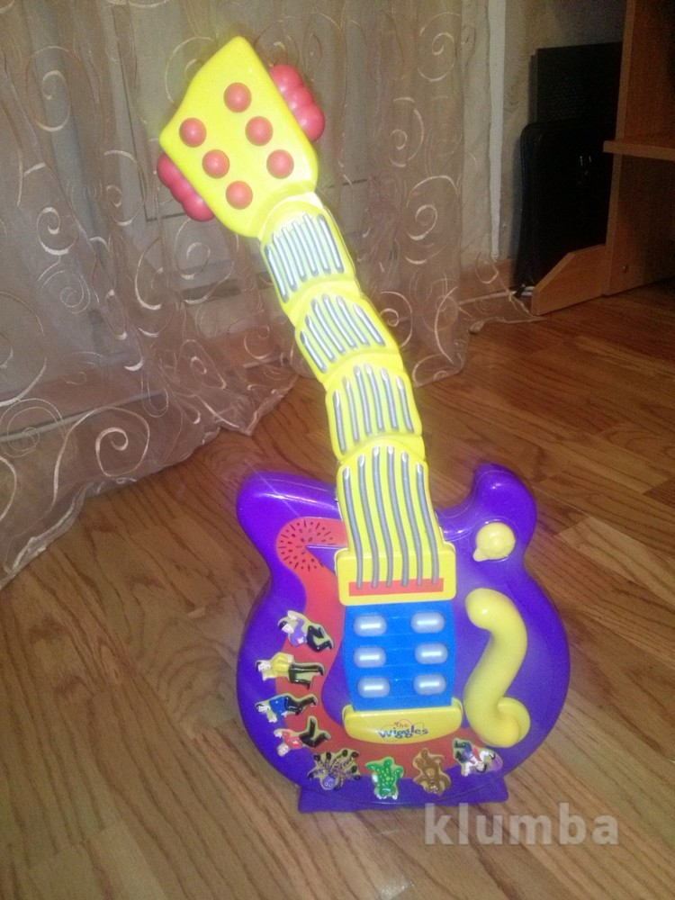Fisher price the wiggles wiggling dancing guitar музыкальная гитара актуально фото №1