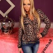 Блузы принт леопард
