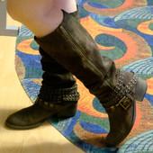 Замшевые сапоги Blink Biker boots