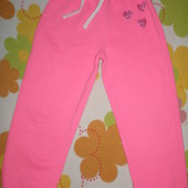 Теплые спортивные штаны на девочку 6-7лет