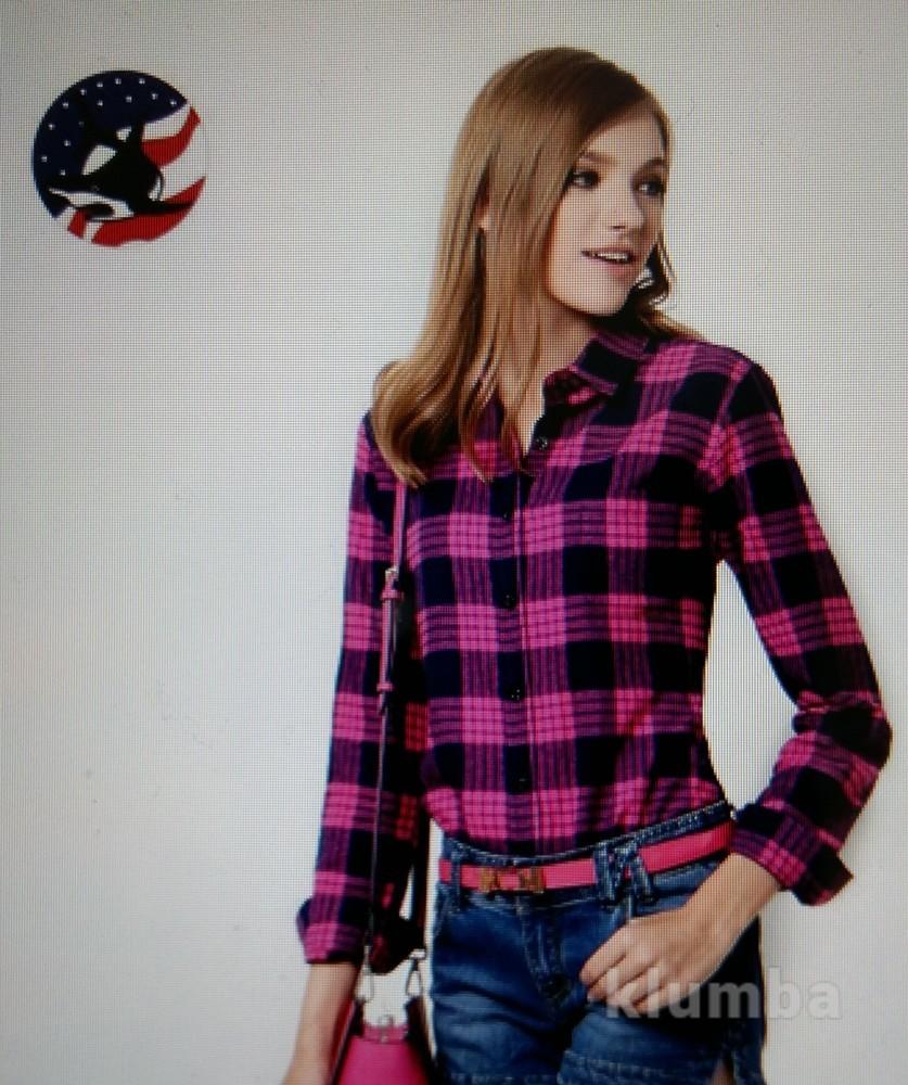 3860ad41d4b Стильная женская фланелевая рубашка