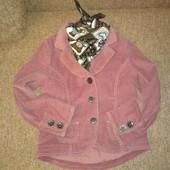 стильный утепленный пиджак для модницы,р.128-134