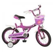 Велосипед детский-14-фуксия, каретка америк, полная защита цепи, пласт