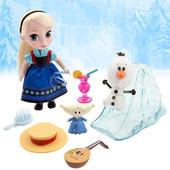 Набор Мини кукла-аниматор Эльза - Disney Animators' collection Elsa мini doll play set - 5''