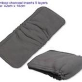 Вкладыши в многоразовые подгузники/Бамбук вугільний 5-шаровий на резиночці.