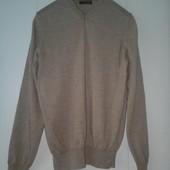 Купить недорого мужской свитер пуловер Marks&Spencer шерсть и шелк размер M