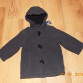 Новое фирменное пальто для мальчика 2-3 года, 92-98 см