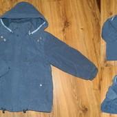 утепленная куртка-пальто на мальчика