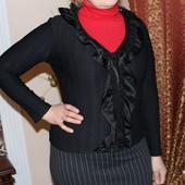 Кофта женская с атласними рюшами