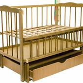 Детская кроватка Колисковий світ Малятко с ящиком на маятнике