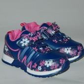 GFB арт.C910-2 синий.цветы. Кроссовки для девочек.