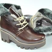 Зимние ботинки из натуральной кожы