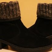 фирменные ботинки утеплённые(нат.замша)