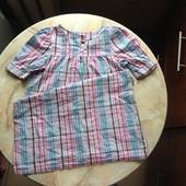Платье рубашка на возраст примерно 7-10 лет