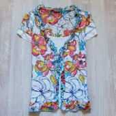 Милейшая блуза с футболкой-обманкой для девушки. Per Una. Размер 10 (M). Состояние: идеальное.