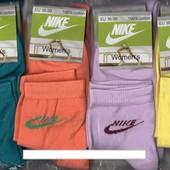 Носки женские демисезонные спортивные х/б Nike, средние