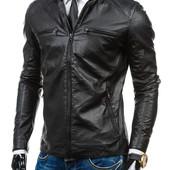 мужская кожаная куртка с перфорацией