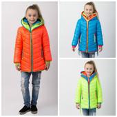 куртка демисезонная весна-осень рост 116-146 см (Украина)