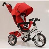 Детский трехколесный велосипед Tilly Trike T-343, красно-белый (Eva колеса)