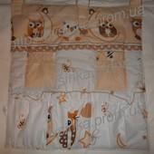 Карман- органайзер с карманчиками для детской кроватки