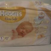 Подгузники Huggies New Born хагис для новорожденных 1, 2-5кг 27 шт. хагис для новорожденных