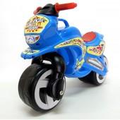 Мотоцикл беговел Киндер Вэй пластиковый голубой синий 11-006 Kinder Way