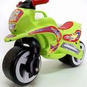 Мотоцикл беговел Киндер Вэй пластиковый салатовый зеленый 11-006 Kinder Way