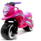 Мотоцикл беговел Киндер Вэй пластиковый розовый 11-006 Kinder Way