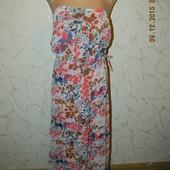 Платье шифоновое с принтом gap