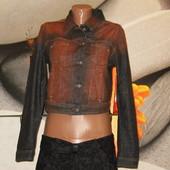Куртка джинсовая укороченная р.S