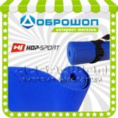 Коврик для йоги и фитнеса pvc Hop-Sport 3мм, синий.