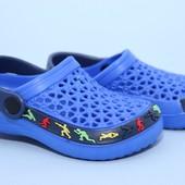 Новые кроксы Шалунишка LW066 голуб. Размеры:24