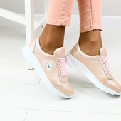 Кожаные женские кроссовки (2329,2593,2634), р-ры 36-40,5 цветов!
