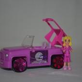 Набор микро мини фигурки человечек с машинкой polly pocket Mattel Полли Покет