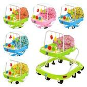 Ходунки - дуга с подвесками 3шт,колеса 8шт(70мм),стопоры2шт,3цв(роз,голуб,зел)