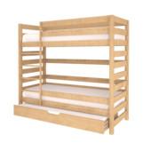 Кроватка из бука - натуральное дерево, двухъярусная+дополнительное место Гарантия! Цвет-натуральный!