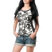 Женская камуфляжная футболка S-XL