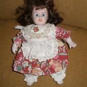 483. Кукла фарфоровая -23см, винтаж.