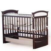 Гарантия 2 года! Кроватка для новорожденных Мишка цвет №5, укр. производитель