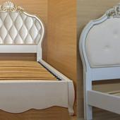 Роскошная кровать для девочки принцессы из массива ясеня (дуба)