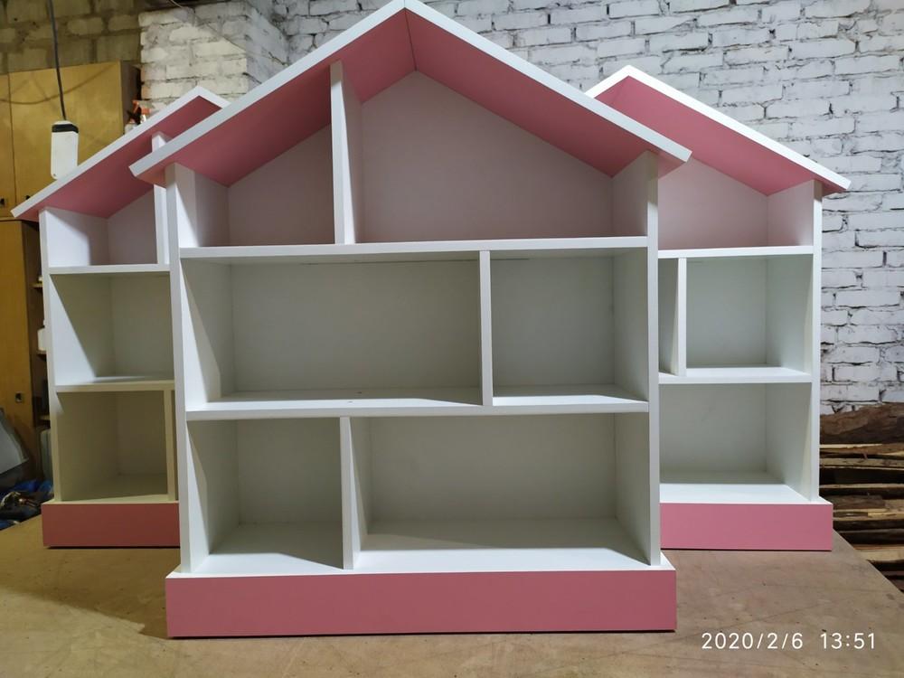 Барби-дом домик для барби стеллаж для игрушек ляльковий будинок фото №1