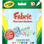 Маркеры Крайола Crayola фабрика - рисование на ткани 10 цветов