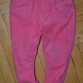 Штаны брюки с утеплителем микровельвет 1 - 2 года 92 см