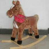 Милая и симпатичная качалка лошадь BT001B музыкальная, 4 вида