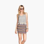 Стильная, летняя юбка от H&M, S