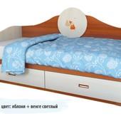 Гарантия 2 года! Детский диван 2 ящика, 70х140 см, укр. производитель
