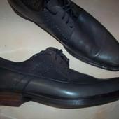 Кожаные фирменные туфли Oxmox 44-45 р(сост новых)