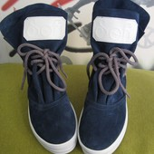 Sofi весенние женские ботинки натуральная замша синего цвета сапоги