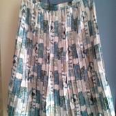 плисированая юбка длинная с подкладкой